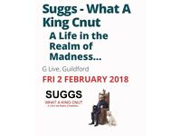 2 tickets for SUGGS, 2nd Feb 2018, G LIVE in Guildford