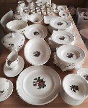 Wedgwood 109 piece dinner set - Edme moss Rose - as new!! Rowville Knox Area Preview