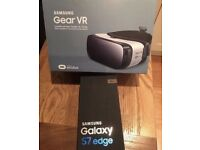S7 Edge black onyx with GEAR VR (no scratches/ almost new)