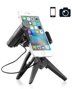 BRAND NEW Professional Recording Micrphone+Tripod for Cellphones