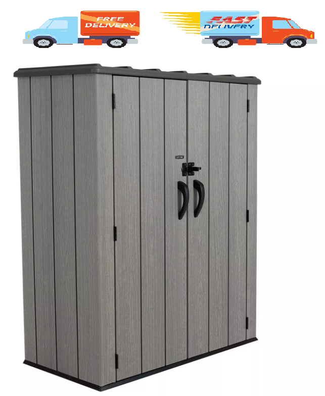 53 cubic feet vertical storage shed best