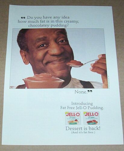 1995 print ad page - Jell-O Pudding -BILL COSBY- Kraft Foods advertising ADVERT