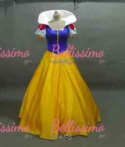 Robe-princesse-disney-blanche-neige-costume-satin-adulte-Taille-6-8-10 ... Beauty And The Beast Belle Pink Dress