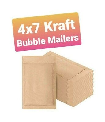000 4 X 7 Kraft Bubble Mailers Self Seal Padded Shipping Envelopes
