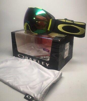 eaec74046b3 New Oakley Snow Goggles Airbrake XL Citrus Black W  Prizm Jade + Rose OO7071 -17