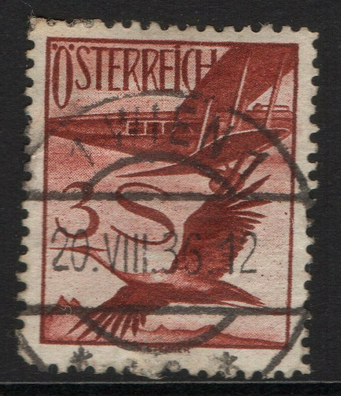 AUSTRIA SG633 1926 3s RED-BROWN USED