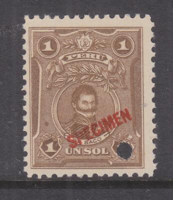 PERU, 1924 De Saco, 1s. Bistre, ABN Co. Proof, SPECIMEN, small punch hole, mnh. comprar usado  Enviando para Brazil