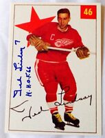 Autographed Ted Lindsay Detroit Red Wings card