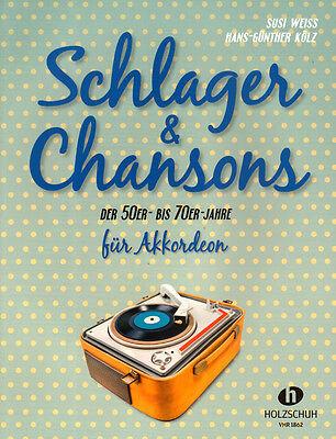 Schlager & Chansons der 50er bis 70er Jahre Songbook Noten für Akkordeon