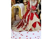 ***HALF PRICE*** Red and Gold Asian/ Pakistani/ Indian Wedding Bridal Lengha Dress