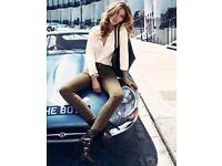 H&M Gisele Bundchen shirt Beige XS New with tags