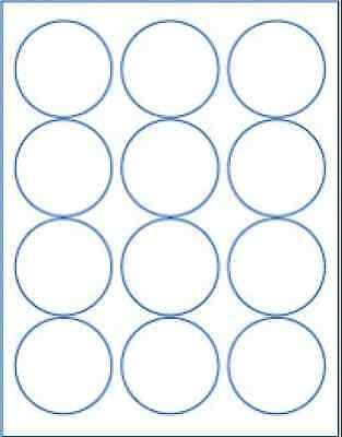 Round 2.5 Labels White Matte Laser Craft Circle Candle