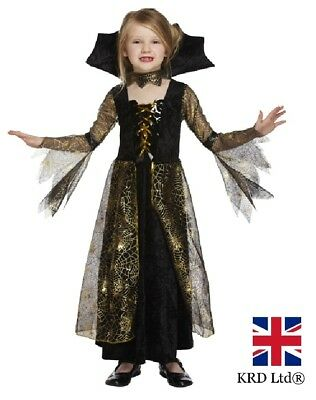MPIRE QUEEN Vampires Horror Halloween Fancy Dress Costume UK (Girls Vampire Halloween-kostüm)