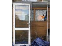External glass door