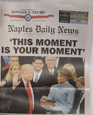 The Inauguration of DONALD TRUMP Naples Daily News Florida Newspaper 1/21/2017