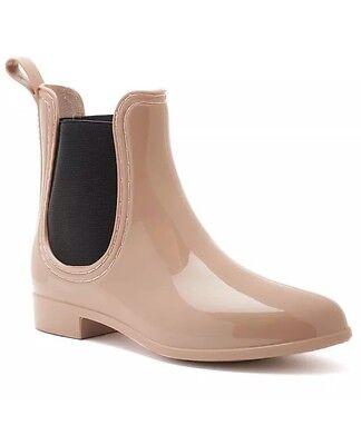 "NWOB Bootsi Tootsi ""Chelsea"" Women's Water Resistant Rain Boot Size 8 Color:Nude"