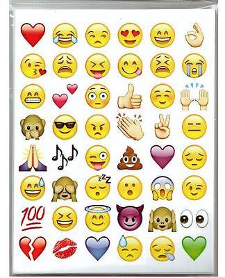 EM7 Aufkleber Sticker Set I love Emoji Emoticons  Bögen 288 stk Smiley Deko