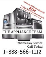 Appliance Installs 1-888-566-1112 Licensed Plumber Electrician