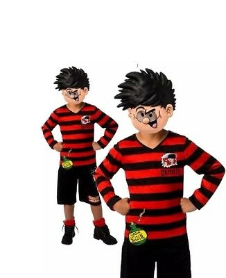 1980s Halloween Cartoons (Rubie's Official Dennis the Menace Boys Fancy Dress Cartoon Book Day Costume 5)