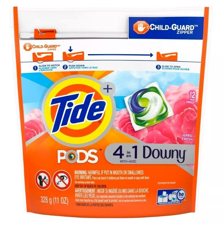 Tide Pods 4 in 1 Downy April Fresh 11oz, 12 Capsules