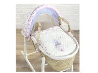 Baby girls Moses basket