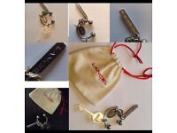 Brand new Designer key ring + charms accessories