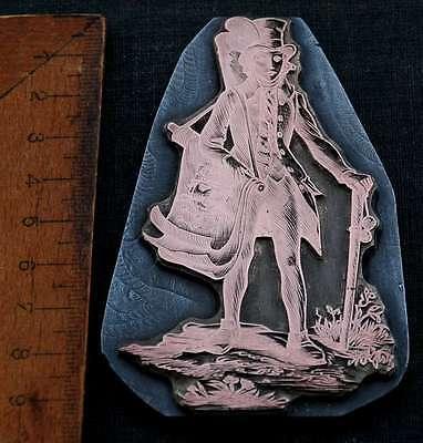 WANDERKRÄMER Galvano Druckstock Kupferklischee Druckplatte copper printing plate