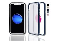 luxury iPhone case with silicone bumper and clear plastic back durable Shockproof wholesale welcome