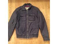Men's NO EXCESS Combat Military Bomber Biker Style Jacket - Size: M