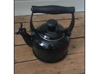 Black le creuset kettle