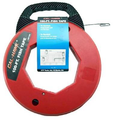100ft Fish Tape Wire Cable Puller Electricians Reel Tape Free QUICK Shipping
