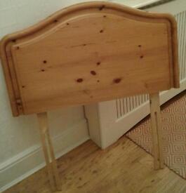 Single pine head board