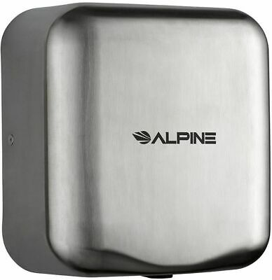 Alpine Electric Hand Dryer 110-120v Automatic High Speed Brushed Stainless Steel