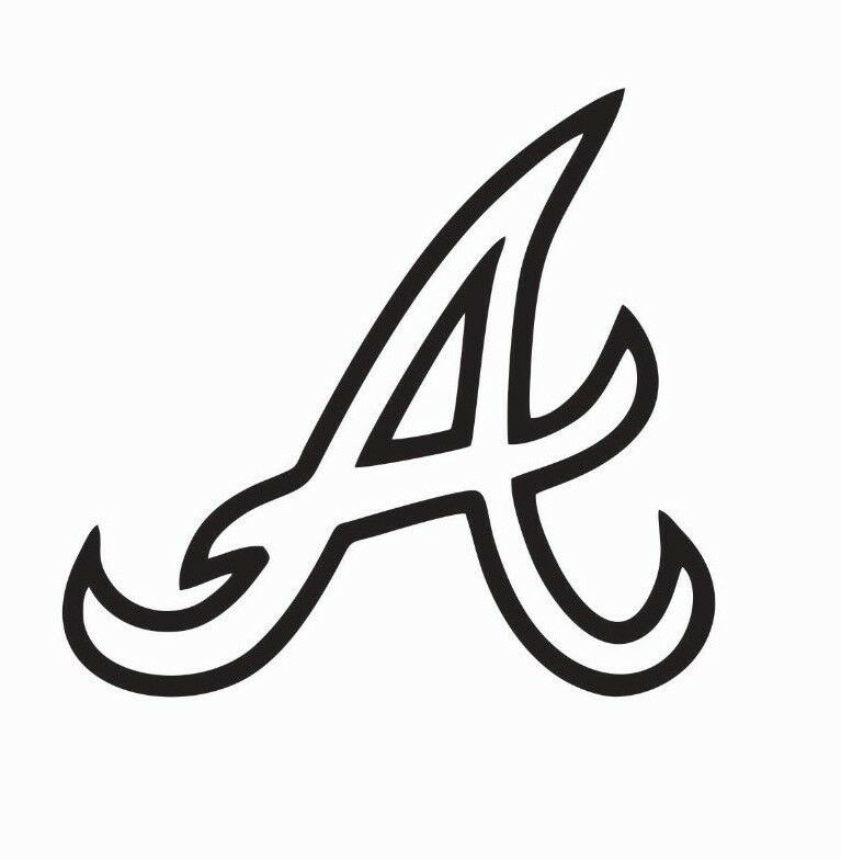 Atlanta Braves MLB Baseball Vinyl Die Cut Car Decal Sticker - FREE SHIPPING