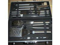 Ideal Birthday Present Heavy duty Stainless steel BBQ utentisle sets £25each BRAND NEW 6 sets left
