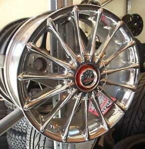 "17"" Set Of 5 Chrome Hokuto Chrimson Alloys For Front Wheel Drive Toowoomba Toowoomba City Preview"