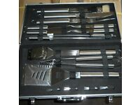 Ideal Christmas Gift Heavy duty Stainless steel BBQ utentisle sets £25each BRAND NEW 6 sets left