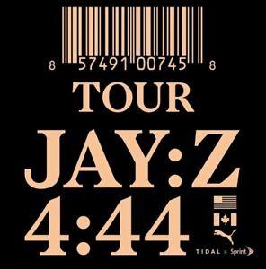 Jay-Z 4:44 Wed, Nov 22 VIP PACKAGE FLOOR SEATS