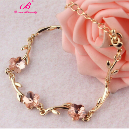 Bracelet - Fashion Charm Women Crystal Rhinestone Cuff Gold Chain Bangle Bracelet Jewelry