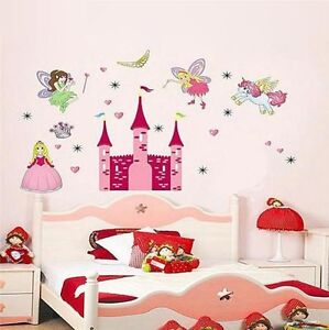 wandtattoo kinderzimmer prinzessin einhorn fee xxl wandsticker s ss m dchen deko ebay. Black Bedroom Furniture Sets. Home Design Ideas