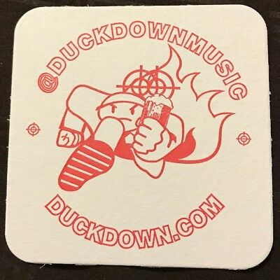 Duck Down Music Beer & Drink Coaster Cardboard Red Print (Set of 4) Brand New