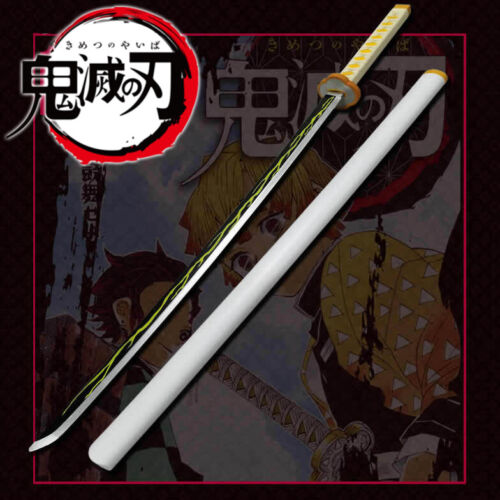 "39"" Kimetsu Yaiba Demon Slayer Zenitsu Agatsuma Anime Sword Blade Cosplay Prop"
