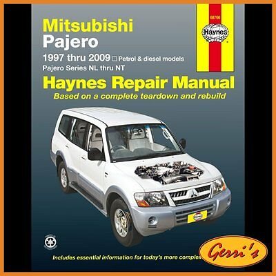 68766 Haynes Mitsubishi Pajero (1997 - 2014) (Australian) Workshop Manual