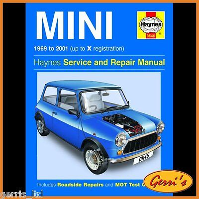 0646 Haynes Mini (1969 - 2001) Petrol up to X Service Manual