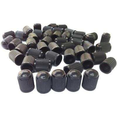 100PC Black Plastic Tire Valve Stem Caps