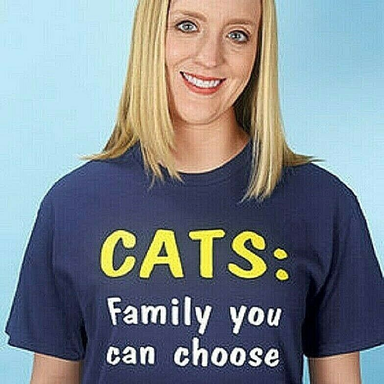 Cat T-Shirt Women Tees Cats Family You can Choose Tshirt T Shirt For Cat Lovers Clothing, Shoes & Accessories