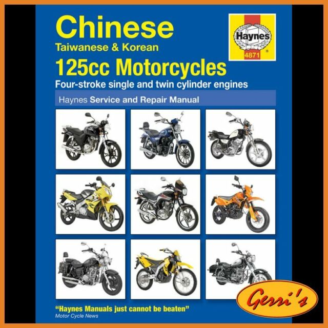 4871 Haynes Korean 125cc Motorcycles Service Manual