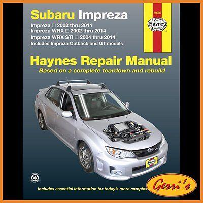 89080 Haynes Subaru Impreza & WRX (2002 - 2014) (USA) Service Manual