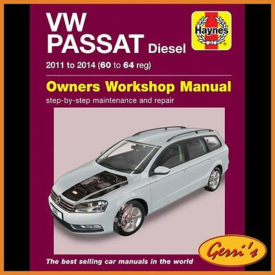 6361 Haynes VW Passat Diesel 2011 - 2014 Workshop Manual