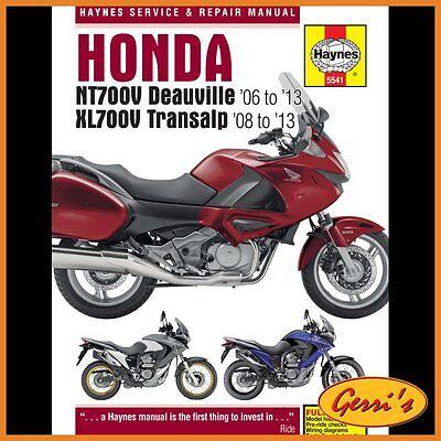 5541 Haynes Honda NT700V Deauville 2006 - 2013 Service Manual